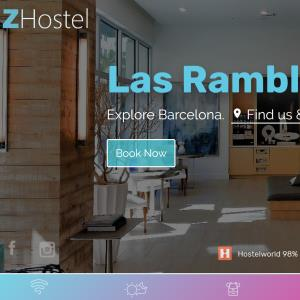 Hostel website online booking system